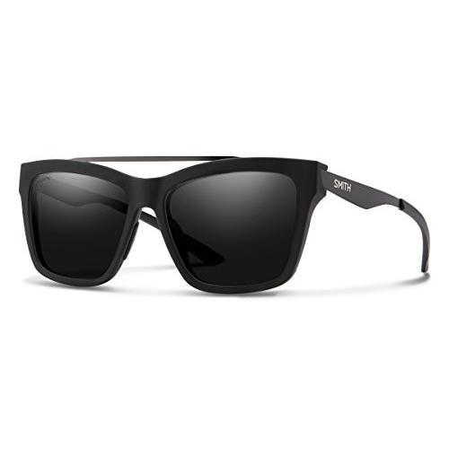 スミスSmith The Runaround Chroma Pop Sunglasses, Matte 黒