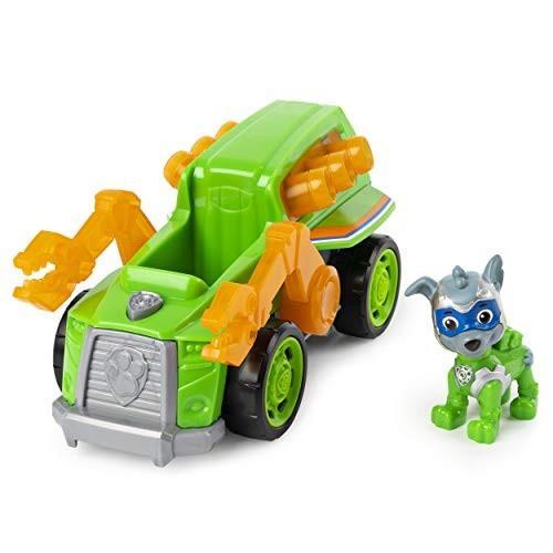 パウパトロールPaw Patrol, Mighty Pups Super Paws Rocky's Deluxe Vehicle with Lights and Sounds