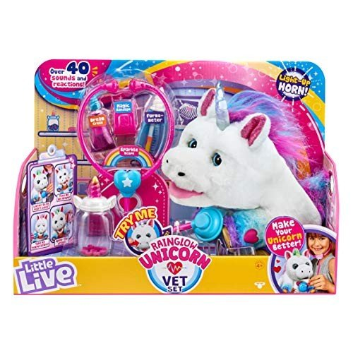 リトルライブペッツLittle Live Rainglow Unicorn Vet Set - Interactive Pet Unicorn