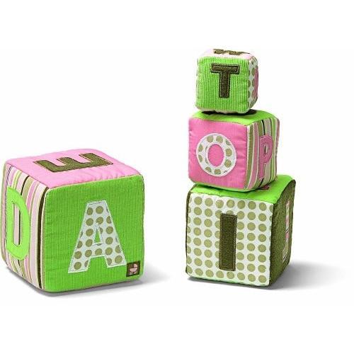 ガンドGund Baby Alphabet Stacking Blocks - ピンク (Discontinued by Manufacturer)