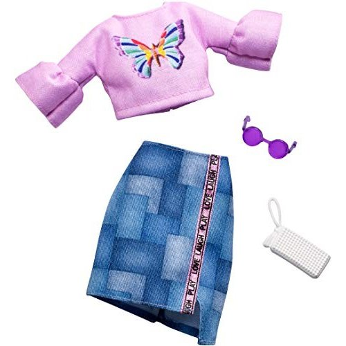 バービーBarbie Complete Looks Butterfly Vintage Top & Patchwork Skirt Fashion Pack