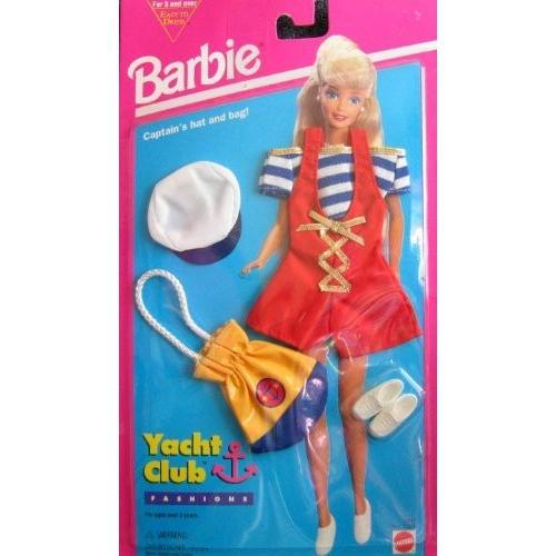 バービーBarbie Yacht Club Fashions w Captain's Hat and Bag! - Easy To Dress (1994)