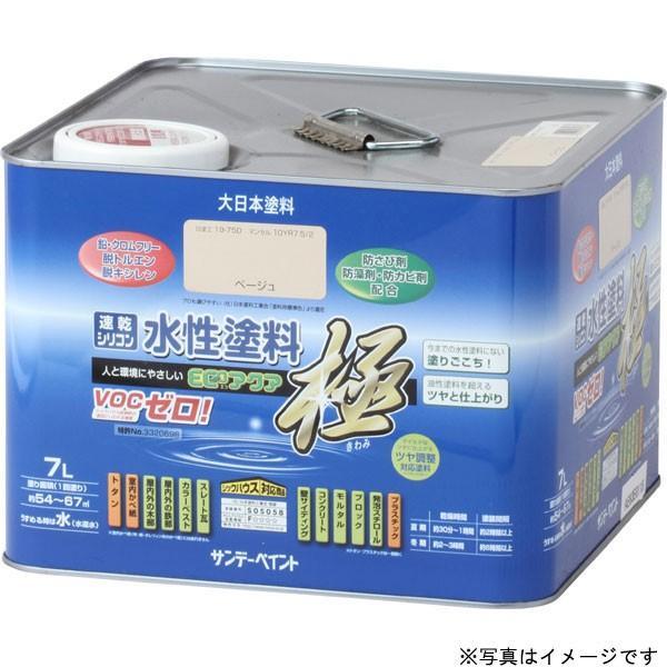 サンデーペイント 水性エコアクア アイボリー 7L 水性多目的塗料