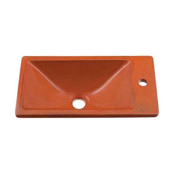 カクダイ KAKUDAI #493-010-R 角型手洗器//鉄赤