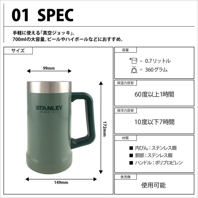スタンレー 02874-021 真空ジョッキ 0.7L グリーン 日本正規品 STANLEY 旧ロゴ 水筒 plantz 02