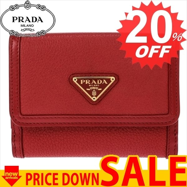wholesale dealer 6f665 4ada8 プラダ 財布 バッグ PRADA 二つ折り財布 PRADA 財布 1MH523 ...