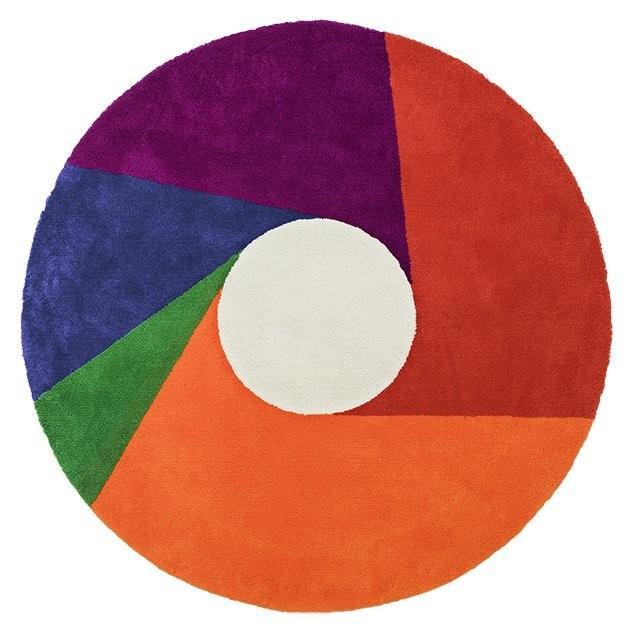 直径2000mm Color Wheel Rug カラーホイール ラグ Max Bill マックス・ビル METROCS メトロクス カーペット 絨毯 床暖房 ホットカーペット対応 円型 円形 丸