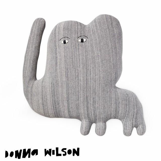 ドナ·ウィルソン ジャンボ·エレファント DONNA WILSON Jumbo Elephant 大きな象 ぬいぐるみ クッション 約65×65×20cm