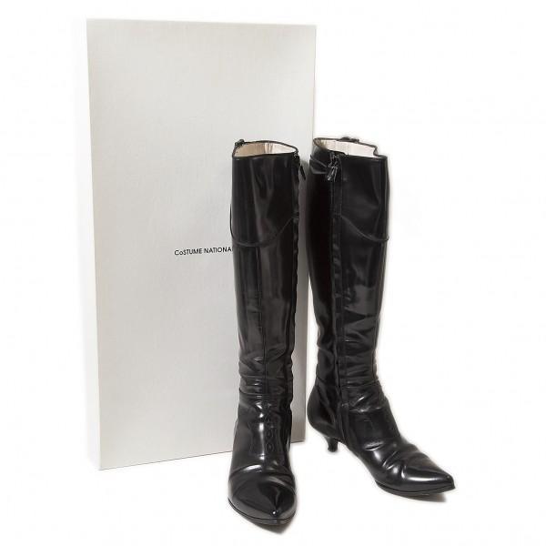 【上品】 コスチュームナショナルCoSTUMENATIONAL レザーロングブーツ 黒35.5(22位) 黒35.5(22位)【レディース】, キリシマチョウ:43b428fb --- fresh-beauty.com.au