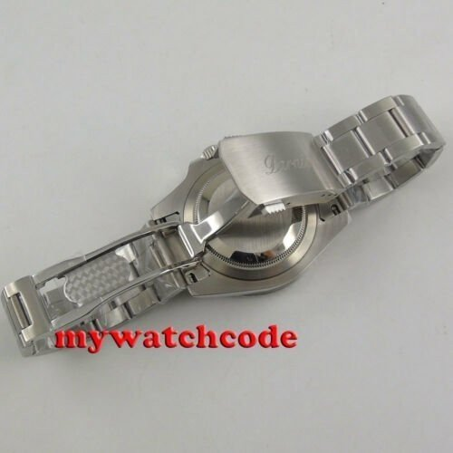40mm PARNIS black dial Sapphire glass Ceramic bezel GMT automatic mens watch 338|playone|09