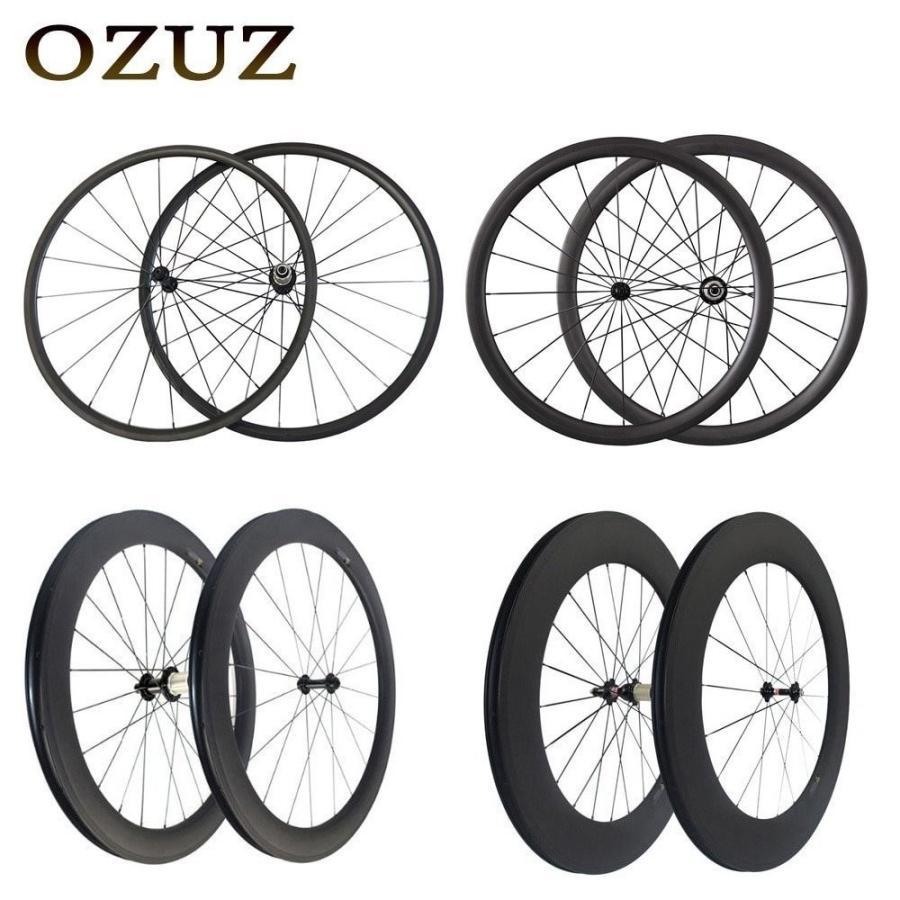 700C Road Bike Carbon Wheels Powerway R13 Hub 494 Cnspoke 38mm Clincher Tubular