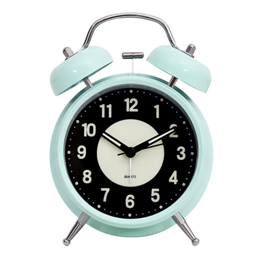 大音量 目覚まし時計 子供 おしゃれ 起きれる 置時計 アナログ インテリア レトロ アラーム 夜光 静か 静音秒針 連続秒針 卓上時計 ベッドルーム 寝室 めざまし|plazasp|11