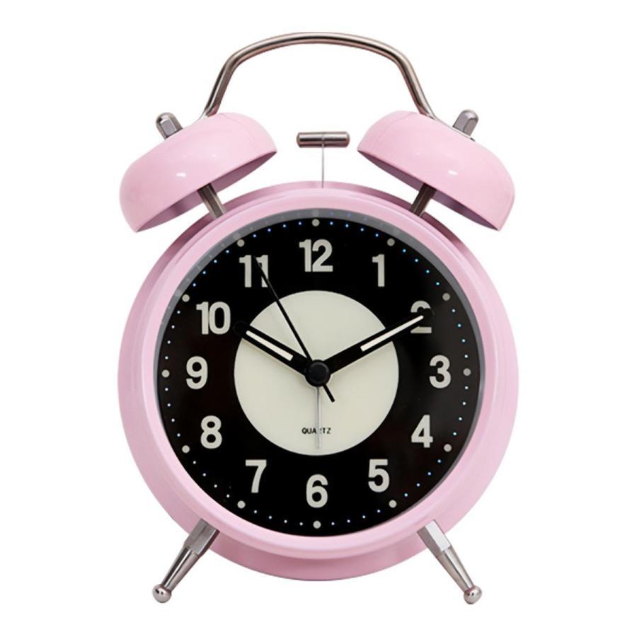 大音量 目覚まし時計 子供 おしゃれ 起きれる 置時計 アナログ インテリア レトロ アラーム 夜光 静か 静音秒針 連続秒針 卓上時計 ベッドルーム 寝室 めざまし|plazasp|12