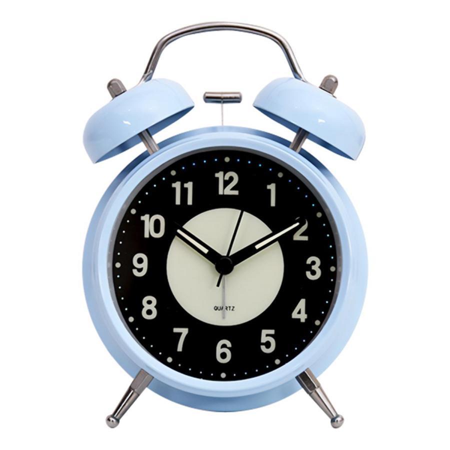 大音量 目覚まし時計 子供 おしゃれ 起きれる 置時計 アナログ インテリア レトロ アラーム 夜光 静か 静音秒針 連続秒針 卓上時計 ベッドルーム 寝室 めざまし|plazasp|10