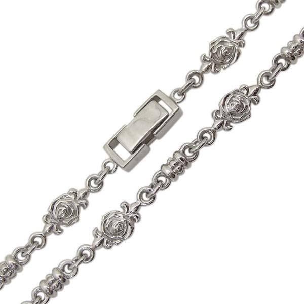 10金 薔薇 ネックレス メンズネックレス ローズチェーン 中折れクラスプ|plejour