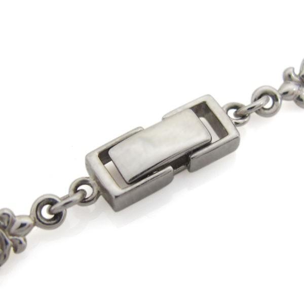 10金 薔薇 ネックレス メンズネックレス ローズチェーン 中折れクラスプ|plejour|04