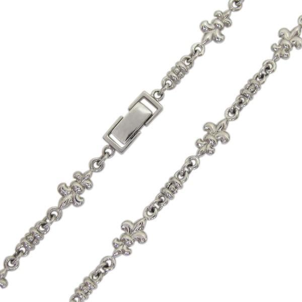 メンズ チェーン 百合の紋章 中折れクラスプ 10金 ネックレス|plejour