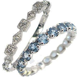 激安通販 ペアリング エタニティーリング ダイヤモンド サンタマリア アクアマリン プラチナ 指輪 ホワイトデー ポイント消化, VONDO f9030f14