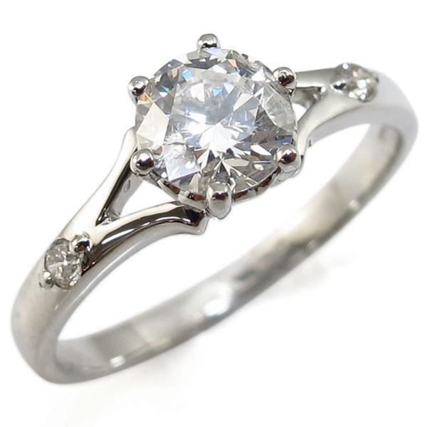 注目 婚約指輪 18金 リング ダイヤモンド 大粒 エンゲージリング 鑑定書付き, CAROL 米ぬか配合うんち袋専門店 85fe40cc
