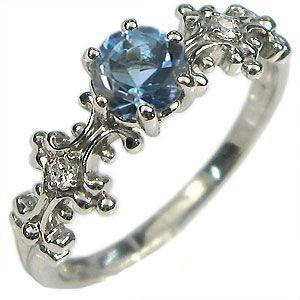 【 開梱 設置?無料 】 K18 リング サンタマリアアクアマリン アンティーク 婚約指輪 安い 大粒, アンダルーチェ b1045871