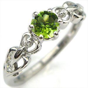 流行 K18 リング ペリドット エンゲージリング ハート 婚約指輪 安い 一粒, 東浦町 a59a42f1