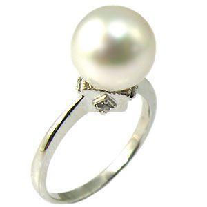 雑誌で紹介された 10金製 パールリング あこや本真珠 指輪 ピンキーリング 真珠指輪, ぐるぐる王国DS 3ea2901c