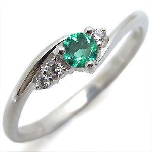 世界の エメラルド リング 一粒 シンプル K18 指輪, LINBAK 0b7eda3a