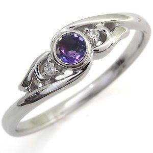 多様な アメジスト 指輪 18金 リング 一粒 リング, カイネットショップ 5bc6d506
