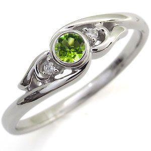 日本人気超絶の ペリドット リング 10金 指輪 一粒 リング, 富士川町 f0724aff