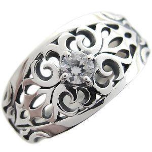 一流の品質 メンズ リング 一粒 ダイヤモンド 指輪 0.3ct トライバル シルバー シルバー 一粒 指輪, 打田町:920b5f4e --- airmodconsu.dominiotemporario.com