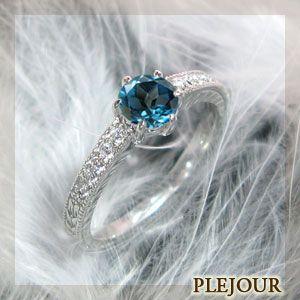 【はこぽす対応商品】 婚約指輪 安い ブルートパーズ リング K18ゴールド エンゲージリング, 水着通販 82ccfff7