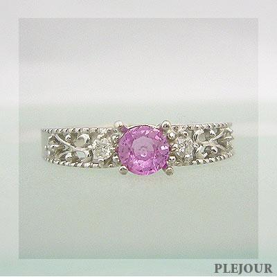素晴らしい外見 ピンクサファイア 指輪 ダイヤモンド リング 18金 アンティーク リング ピンクサファイア 指輪, オーダーミラーと硝子のミラージュ:60afd42f --- airmodconsu.dominiotemporario.com