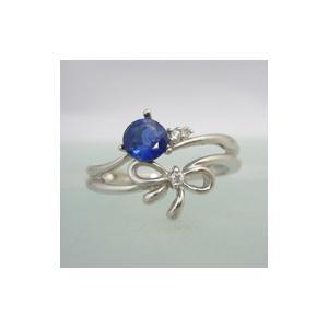割引購入 タンザナイトリング K18WG リボン 誕生石 ダイヤモンド付 指輪 送料無料 キュッと結んだ可憐なリボンリング, イワツキシ 97d45b11
