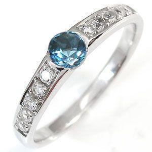 【テレビで話題】 ブルートパーズ リング ハーフエタニティー リング 指輪 11月誕生石 一粒 10金, オオウラチョウ a7e063e2