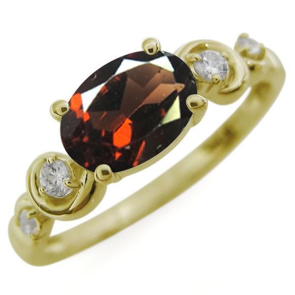 【限定品】 オーバル ガーネットリング 大粒 10金 指輪, ミウラグン 9000a453