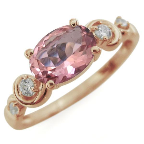 【海外限定】 K18 ピンクトルマリン 一粒 リング 指輪, ツヅキグン cfcb6976