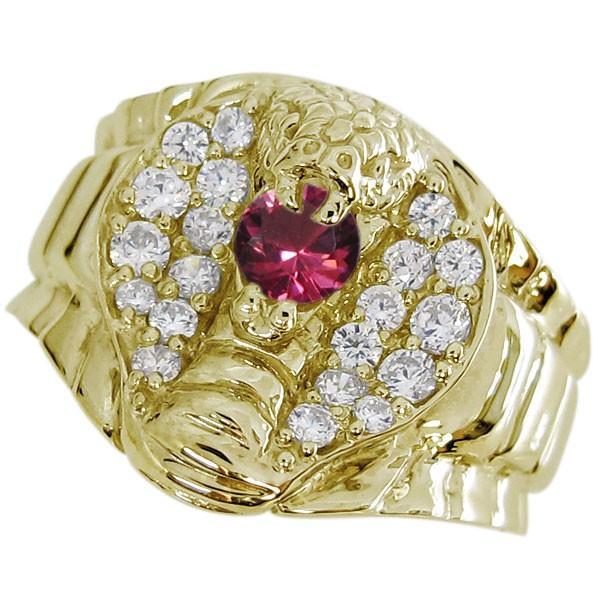 【高知インター店】 スネーク リング コブラ メンズ ルビーリング 10金 蛇 指輪, joyjoymarket 5851003b