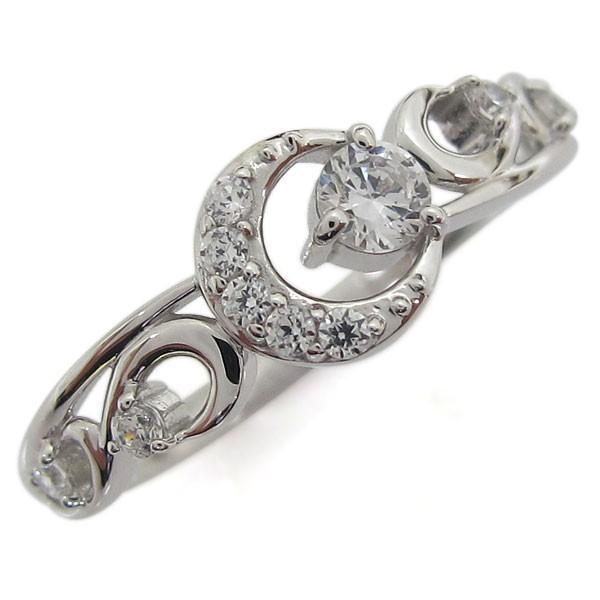当季大流行 プラチナ ダイヤモンドリング 月 ムーン レディース 指輪 ホワイトデー ポイント消化, 道具屋さん 73a0019a