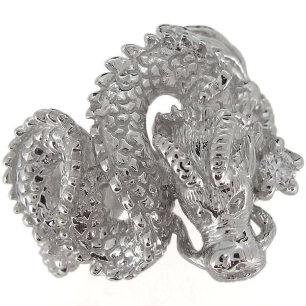 想像を超えての 指輪 メンズ 龍 ドラゴン ダイヤモンドリング 4月誕生石 プラチナ ホワイトデー ポイント消化, おかべ水産 ef98e5aa