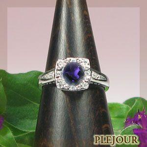 【即発送可能】 プラチナ アメシストリング ダイヤモンド 指輪 ホワイトデー ポイント消化, リョウゼンマチ 72387016