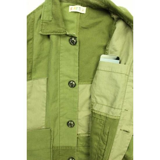 EATS Used Patchwork Jacket_ARMY パッチワークジャケット Lサイズ plus-c 03