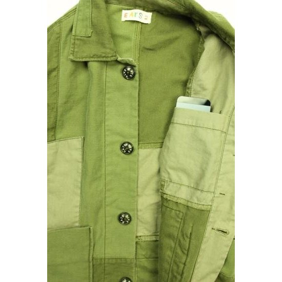 EATS Used Patchwork Jacket_ARMY パッチワークジャケット Sサイズ|plus-c|03