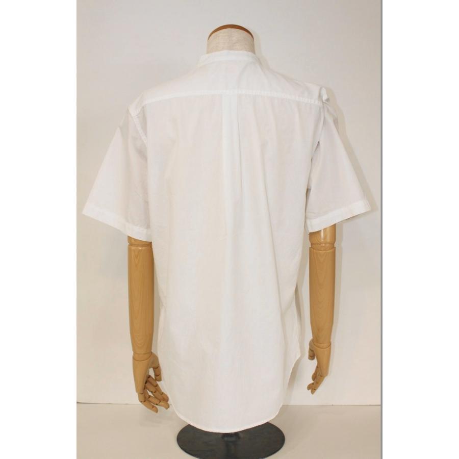 バーンズ barns outfitters ブロード 半袖バンドカラーシャツ|plus-c|12