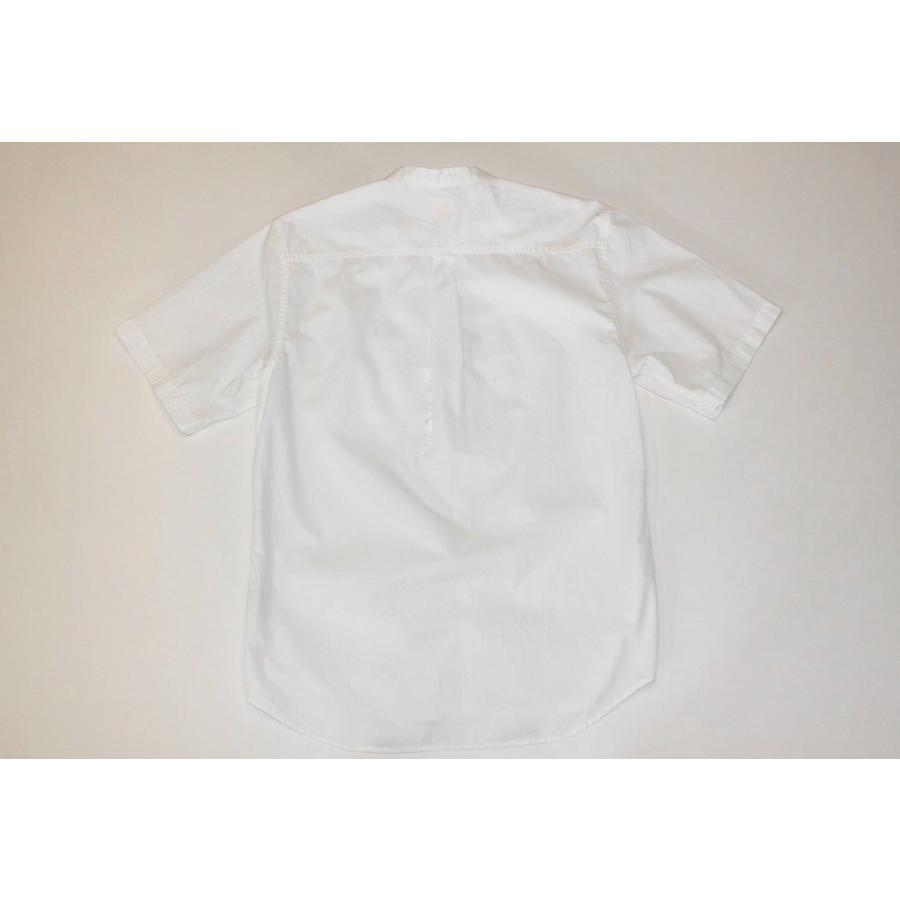 バーンズ barns outfitters ブロード 半袖バンドカラーシャツ|plus-c|03