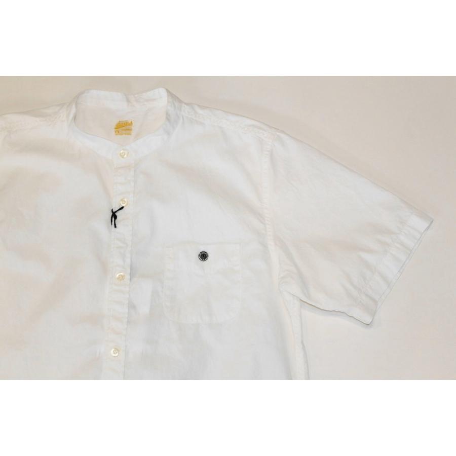バーンズ barns outfitters ブロード 半袖バンドカラーシャツ|plus-c|04
