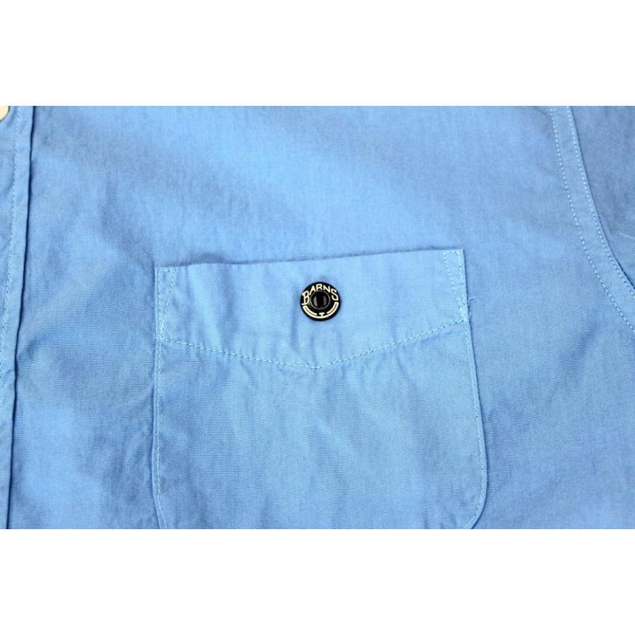 バーンズ barns outfitters ブロード 半袖バンドカラーシャツ|plus-c|07