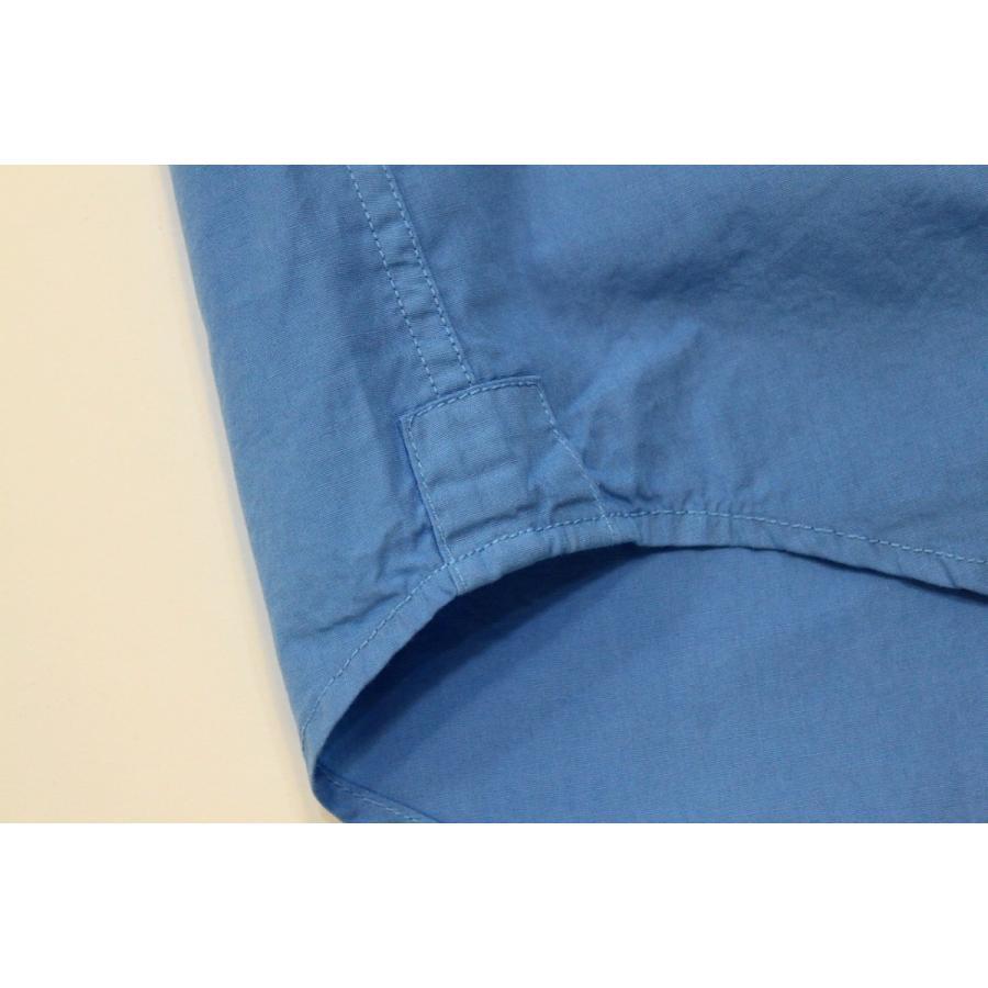 バーンズ barns outfitters ブロード 半袖バンドカラーシャツ|plus-c|08