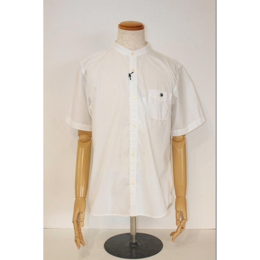 バーンズ barns outfitters ブロード 半袖バンドカラーシャツ|plus-c|10