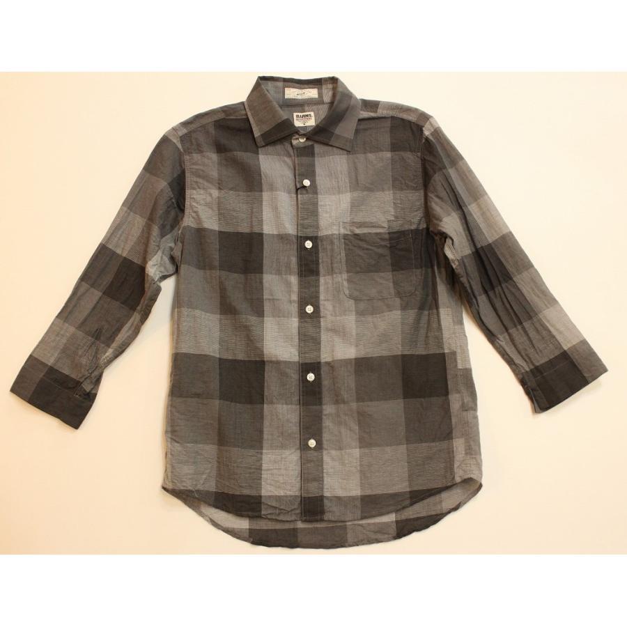 バーンズ barns outfitters シャトルノーツ8.5分袖シャツ|plus-c|03