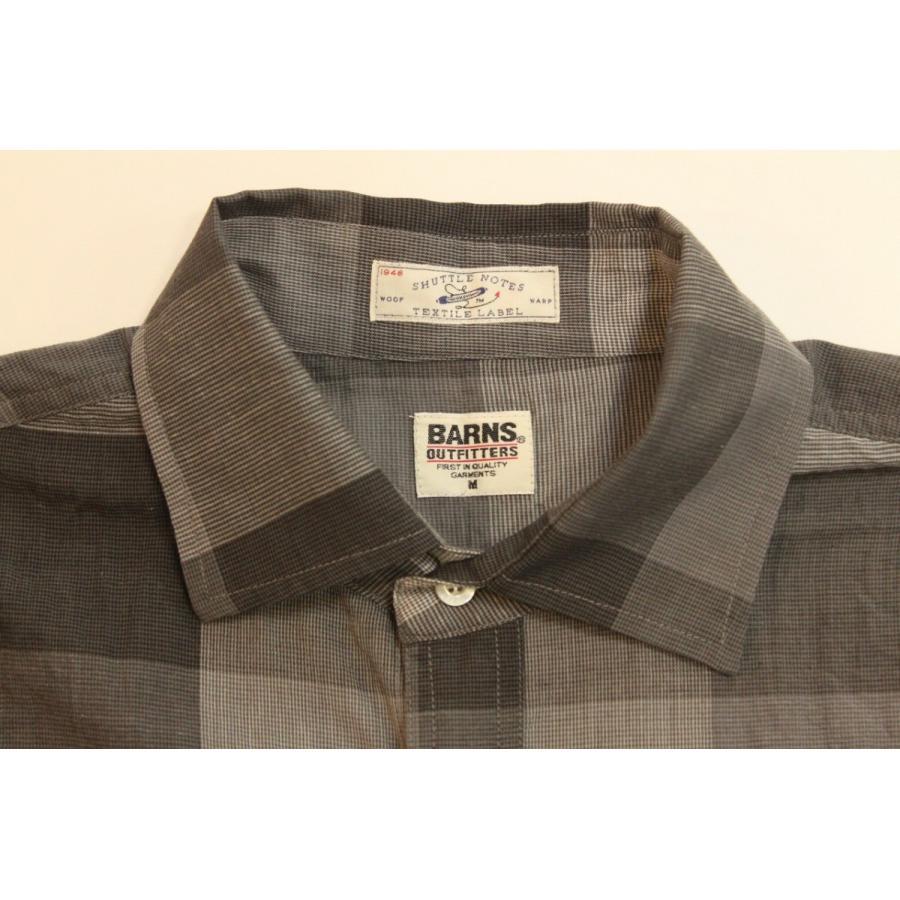 バーンズ barns outfitters シャトルノーツ8.5分袖シャツ|plus-c|04